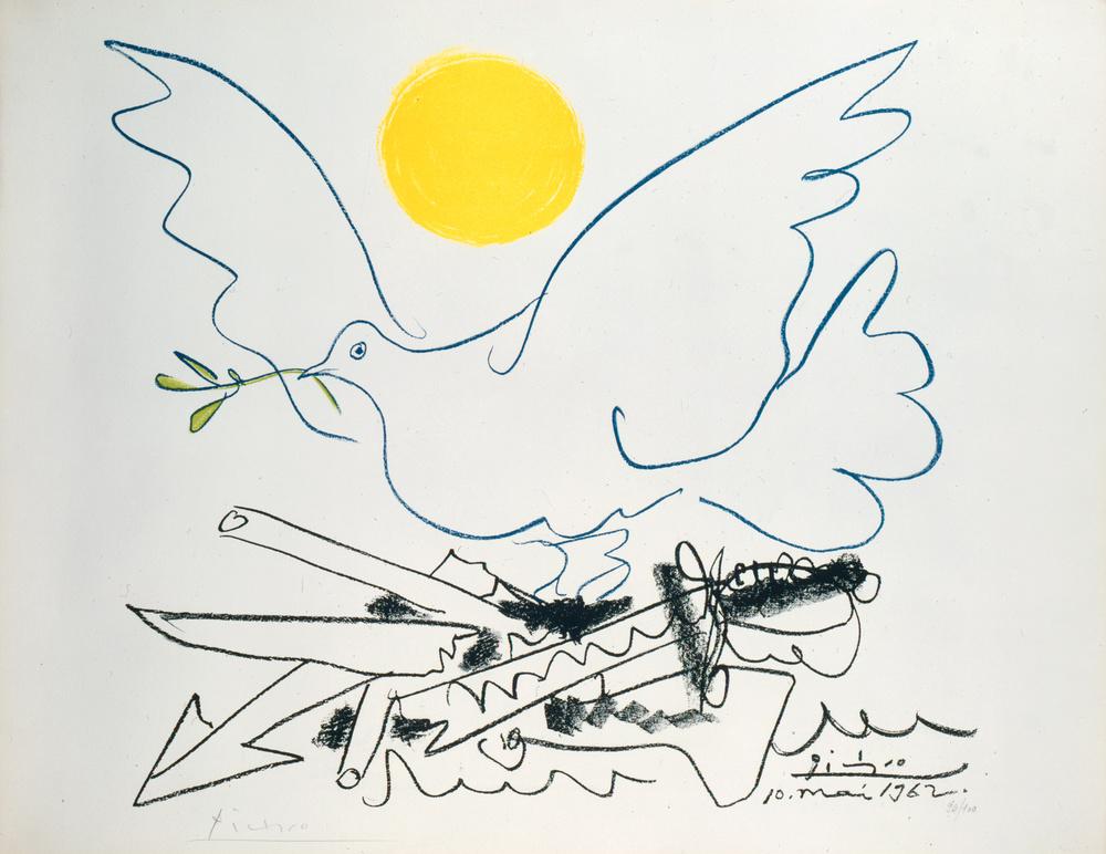 La colombe de l'avenir ou Les armes à la ferraille | Pablo PICASSO .1881, Málaga (Espagne) - 1973, Mougins (Alpes-Maritimes, France)