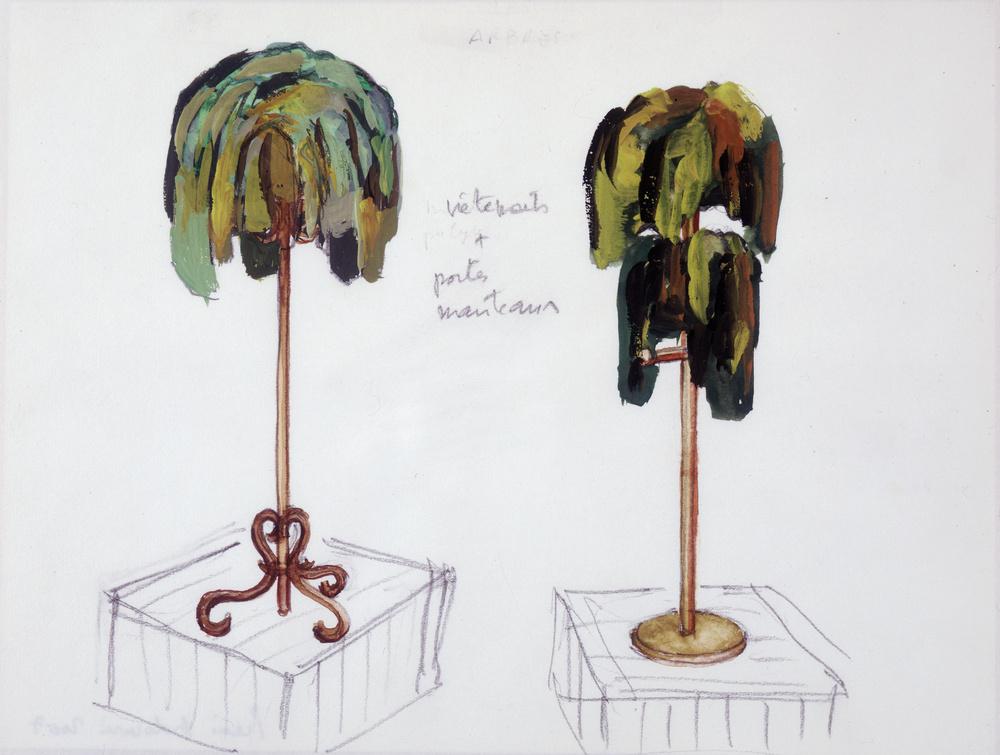 Etudes pour palmiers | Pierre ARDOUVIN .1955, Crest (Drôme, France)