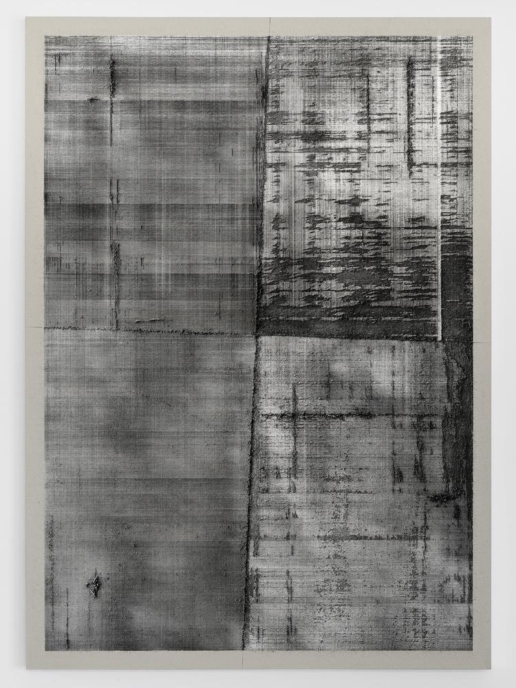 """Papier millimétré """"Dark Matter""""   Eric BAUDART .1972, Saint-Cloud (Hauts-de-Seine, France)"""